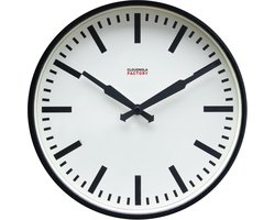 Cloudnola Factory Railway clock 30cm Black stripes